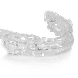 Prosomnus oral appliance for sleep apnea isolated against white background